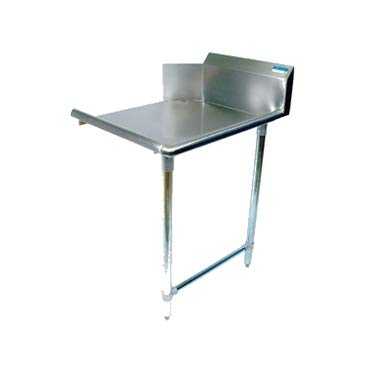 BK Resources BKCDT-36-R Clean Dishtable, straight design, 36 inch W x 30-7/8 inch D x 46-1/4 inch H, left-to-right operation, 18/304 stainless steel top
