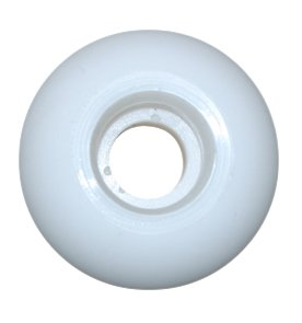 Blank Skateboard Wheels (White, 52mm)