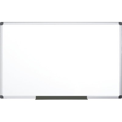 MasterVision CR1501170MV Porcelain Value Dry Erase Board, 48 x 96, White, Aluminum Frame by MasterVision