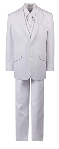 (Boys 2 Button First Holy Communion Suit - White (Boys 8))