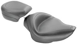 (Mustang Wide Touring Solo Seat compatible for Harley-Davidson Sportster '04-'18)