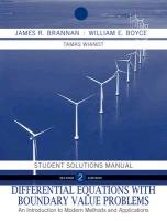 Differential Equations, Student Solutions Manual: An Introduction to Modern Methods and Applications (Differential Equations With Boundary Value Problems Solutions)