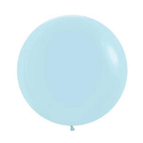 Matte Pastel Latex Balloons, Round, 36, 24, 11, 5 Inch, Helium, Blue, Pink, Green, Yellow, Lilac, Big Balloons Party Decoration (5