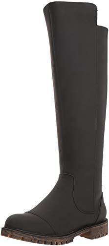 Black Knee High Lace Up Boots (Roxy Women's Bonny Knee High Boot, Black, 7.5 M)