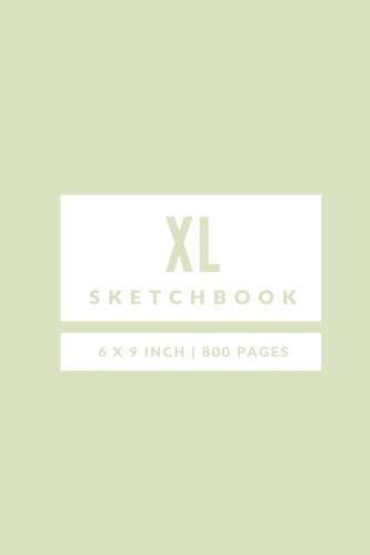XL Sketchbook: 6 x 9: Honeydew: XL Sketchbook 800 Pages