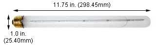 Incandescent Light Bulbs 40T8IF 125V Frost E-26 Base (Case of 12)