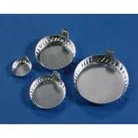 Eagle Thermoplastics D57-100 Aluminum Round Weighing Dishes with Tabs, 63ml, 57mm [pack of 100]
