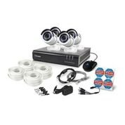 Swann 1080P Digital Video Recorder with 4 Pro-T855 Cameras Surveillance Camera, White/Black (SWDVK-445004-US)