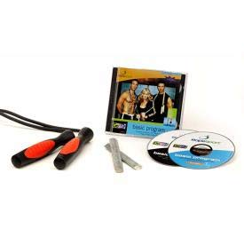 GoFit Speed Rope Training Kit - Adjustable, Durable jumprope, Audio CD, and Instruction Guide