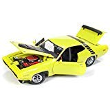 1971 Plymouth Road Runner 440+6''Looney Tunes Citron Yellow Ltd Ed 1002 pcs 1/18 Diecast Model Car by Autoworld AMM1158