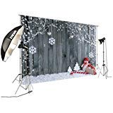 FiVan Wood and Snowman Design Photo Backdrop For Winter Home Party Pictures Baby Children Studio Xmas Portraits Background FT-5899