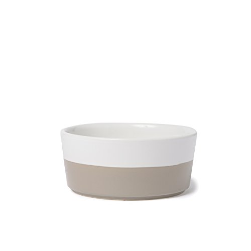 - Waggo Dipper Ceramic Dog Bowl Vintage Grey, Large