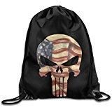 Price comparison product image NUBIA Skull Sniper Backpack Gymsack Drawstring Sport Bag