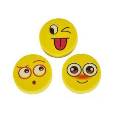 amazon com unioneer fun smiley face erasers multiple emotion faces