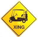 Golf Cart XING Sign (Crossing Sign)