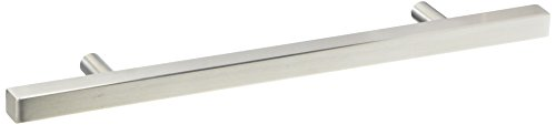 Pandora - Square Pull Bar Handle Stainless Steel For Drawer Kitchen Cabinet Hardware - 10 inch ()
