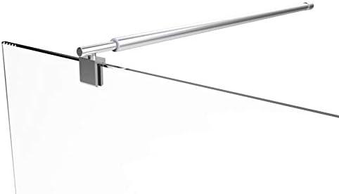 Stabilisierungsstange Haltestange Teleskopstange f/ür Duschw/ände Glaswand Walk In Stabilisator Glasst/ärke bis 10mm Justierbar 78-123cm