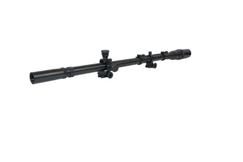 (Hi-Lux Optics Malcolm Series 8x USMC Sniper Riflescope with Mounts and Spring, Matte Black)