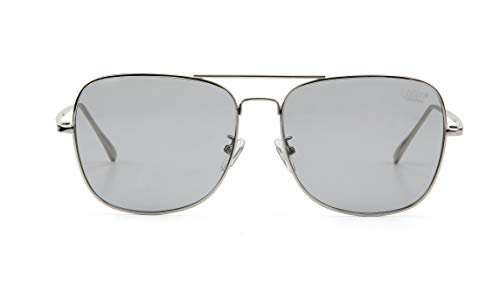 Gray Tint Lenses - Hybition Boeing Sunglasses ROVER Series Classic Modern Retro Style UV Protection Unisex for Men Women (Original Silver, gray tint lens)