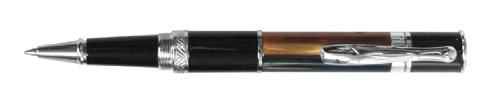 (Monteverde Mini Jewelria Striped Brown Rollerball Pen (MV59411))
