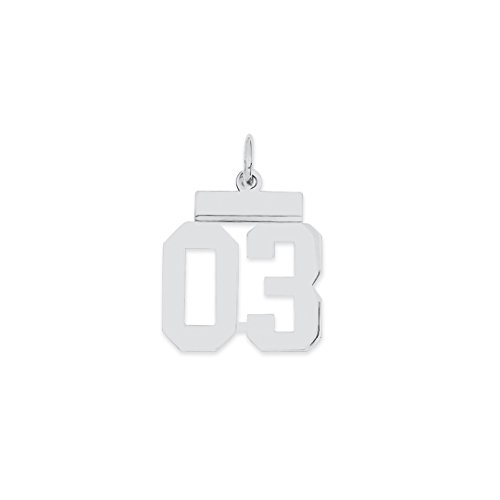 925 sterling silver small number 03 top