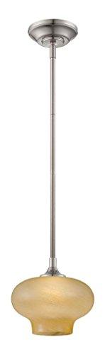 Satin Platinum One Light Pendant - Satin Platinum French Swirl 1 Light Led Mini Pendant