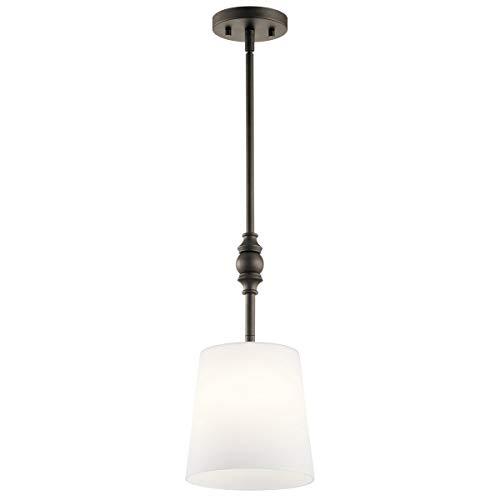 Mini Pendants 1 Light Fixtures with Olde Bronze Finish Steel Material Medium Bulb 8