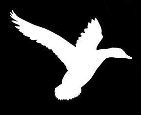 Goose Flying Decoy - LLI Flying Goose | Decal Vinyl Sticker | Cars Trucks Vans Walls Laptop | White | 5.5 x 4.1 in | LLI1351