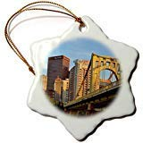 Architecture - USA, Pennsylvania, Pittsburgh. Andy Warhol Bridge Ceramic Christmas Ornaments 2018 Novelty for Christmas Decorations,Tree Decor ()
