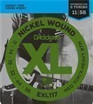 3 Sets of D'Addario EXL117 Electric Guitar Strings for Drop D Tuning