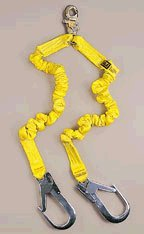 DBI/Sala 1224409 ShockWave2 100% Tie-Off Fall Protection Lanyard - Aluminum Hooks