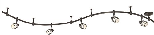 (Quoizel WNS1405WT Winside Adjustable LED Track Lighting Kit, 5-Light, 25 Watts, Western Bronze (11