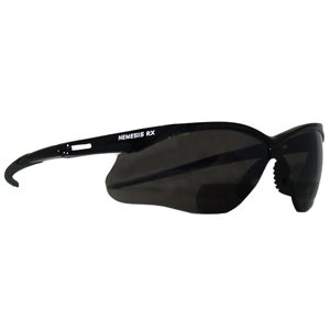 Reading Safety Glasses, Nemesis RX, Black Frame/Smoke Lens, (Integrated Single Channel)