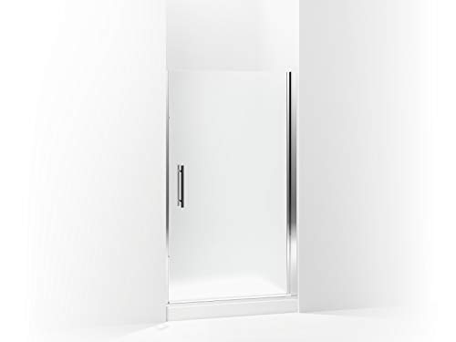 (Sterling 5698-42S-G03 Finesse Peak Frameless Pivot Shower Door with Frosted Glass, 42-in W x 67-in H,)