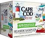Cape Cod Kettle Seaside Sampler Potato Chips gNQLUh, 2Pack (24 Count) (Seaside Sampler)