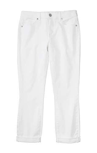 Ann Taylor LOFT Women's Denim Stretch Crop Jeans (10, Crisp White)