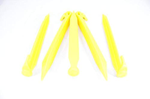 SGT KNOTS Tent Stakes (Yellow, 9inch, 10-Pack) by SGT KNOTS