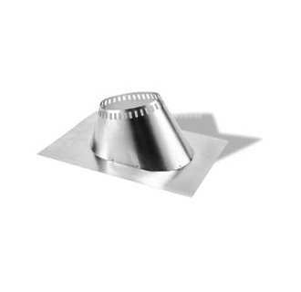 M G Duravent 7DT-F12 7 Inch Duratech Flashing 7/12-12/12 Pitch Galvanized Storm Collar Not Included