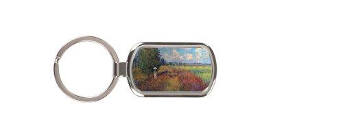 Poppy Field In Summer By Claude Monet Key Chain