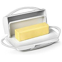 Butter cheese Storage Dish White Flip-Top With Spreader Easy Clean Dishwasher Microwave safe