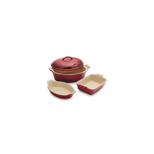 Le Creuset 4-Piece Stoneware Set PG0016SLT-67 , Cerise