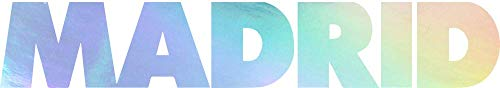 ANGDEST Madrid Footbal Club Real Madrid Text (Hologram) (Set of 2) Premium Waterproof Vinyl Decal Stickers for Laptop Phone Accessory Helmet Car Window Bumper Mug Tuber Cup Door Wall Decoration