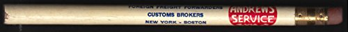 D C Andrews Foreign Freight Brokers NY Boston Chicago Balto advertising pencil