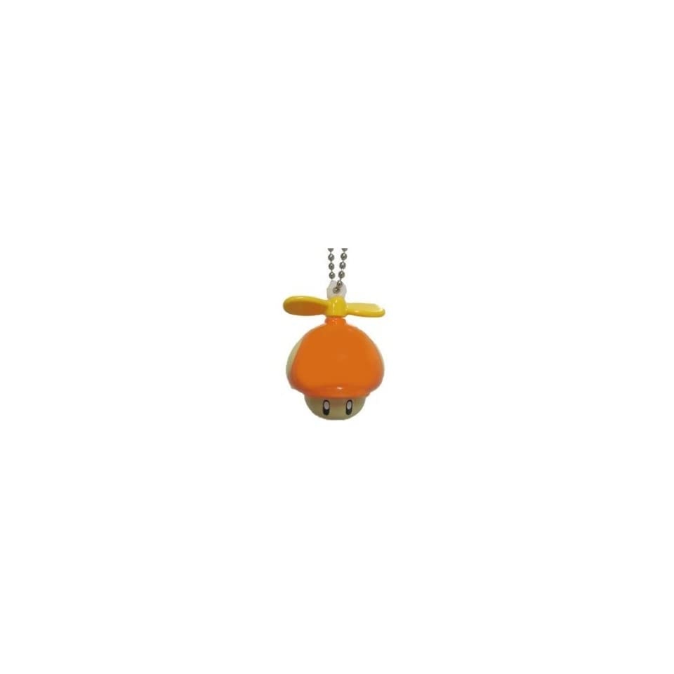 Nintendo Super Mario Bros. Wii Light Up Mascot Propeller Mushroom Charm Keychain