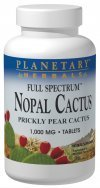 Planetary Herbals Full Spectrum Nopal Cactus 1000mg Prickly Pear Cactus Antioxidant - 100% Natural - 120 Tablets