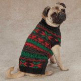 Zack & Zoey UM3768 14 17 Classic Holiday Sweater for Dogs, Small/Medium, Black