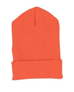 Cuffed Knit Yupoong (Yupoong Cuffed Beanie Hat Knit Cap 1501 orange One Size)