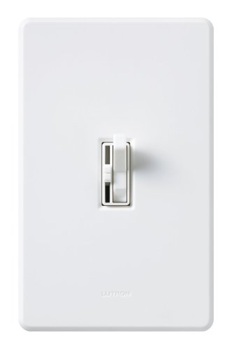 Lutron TGFSQ-FH-WH Toggler Fan Speed Control White ()