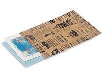 """50 Vintage Printed Paper Kraft Bags 6x8"""""""