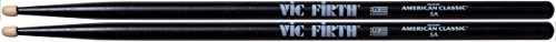 Vic Firth 5AB American Classic Black 5A Wood Tip (Marching Wood Tip)